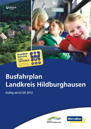 Busfahrplan des Landkreises Hildburghausen - WerraBus