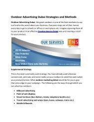 Outdoor Advertising Dubai Strategies and Methods