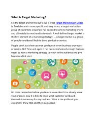 What is Target Marketing