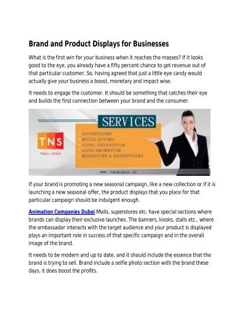 Brand and Product Displays for Businesses