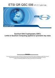 ETSI GR QSC 006