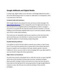 Google AdWords and Digital Media