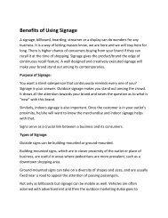 Benefits of Using Signage