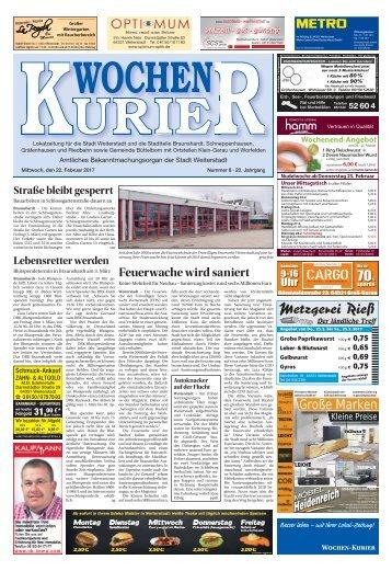 Wochen-Kurier 8/2017 - Lokalzeitung für Weiterstadt und Büttelborn
