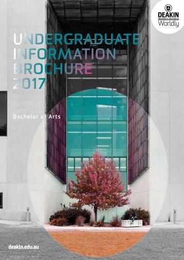 UNDERGRADUATE INFORMATION BROCHURE 2017