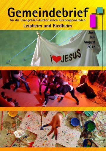 Gemeindebrief - Evangelisch in Leipheim und Riedheim