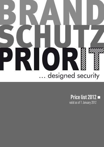 Price list 2012 - Priorit