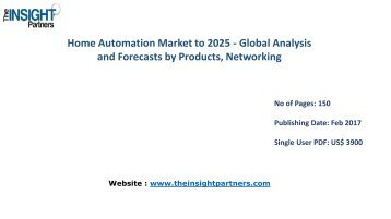 Home Automation Market to 2025-Industry Analysis, Applications, Opportunities and Trends
