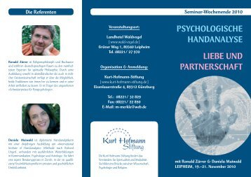 Seminarflyer Leipheim.indd - Kurt-Hofmann-Stiftung
