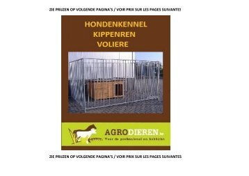Agrodieren.be - hondenren hondenkennel kippenren kattenren voliere catalogus