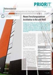 Neues Forschungszentrum Architektur in Rot und Weiß - Priorit