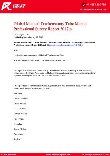 Global-Medical-Tracheostomy-Tube-Market-Professional-Survey-Report-2017-n