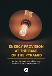 Energy Provision at the Base of the Pyramid