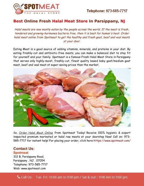 Order Halal Meat Online from Spotmeat