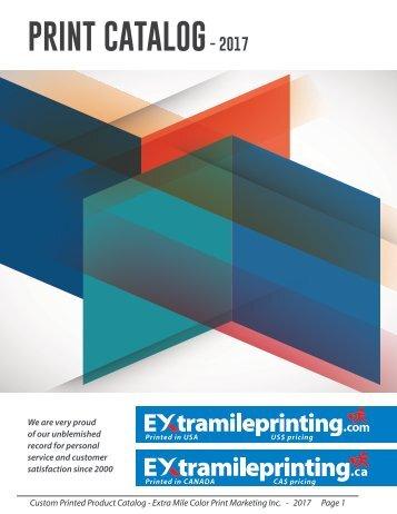 ExtraMilePrinting Online Catalog 2017