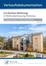 Verkaufsdokumentation Felsenaustrasse 31 - 8200 Schaffhausen
