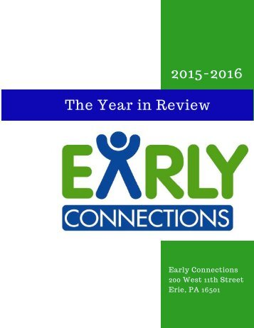 Early Connections Annual Report 2015-2016 FY