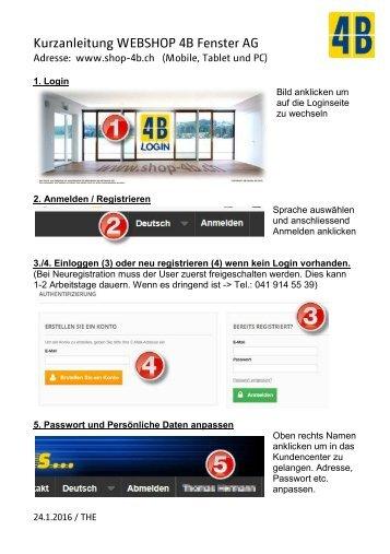 Kurzanleitung WEBSHOP 4B Fenster AG A5_de