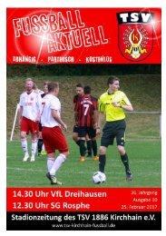 25.02.2017 Stadionzeitung - Dreihausen / Rosphe