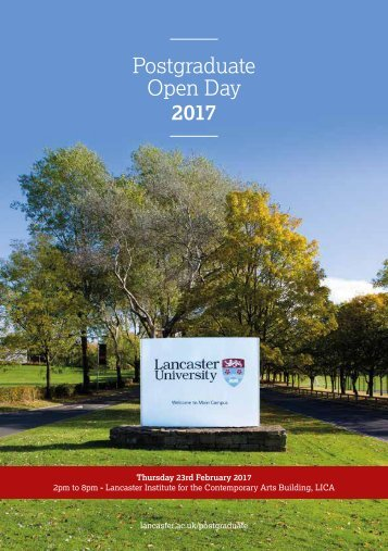 Postgraduate Open Day 2017