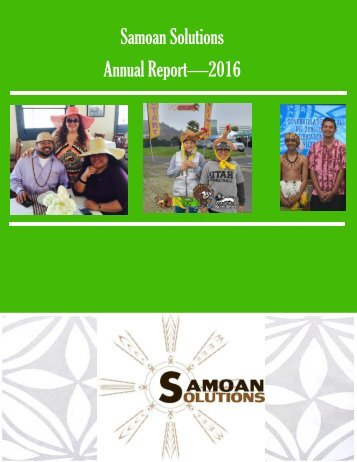 Samoan Solutions Annual Report for 2016