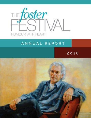 Foster Festival 2016 Annual Report