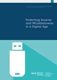 Protecting Sources and Whistleblowers in a Digital Age