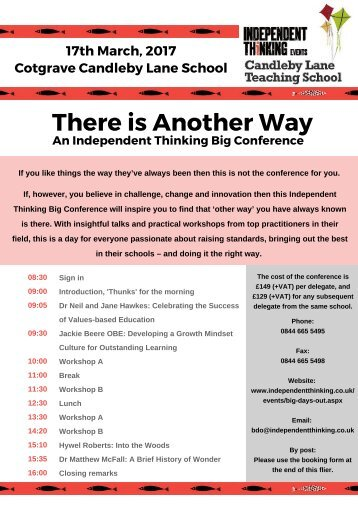 The Big Conference at Cotgrave UPDATED