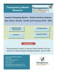 Aseptic Packaging Market Size, Share   Industry Trends Analysis Report, 2024