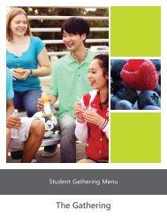 Chartwells Student Catering Menu