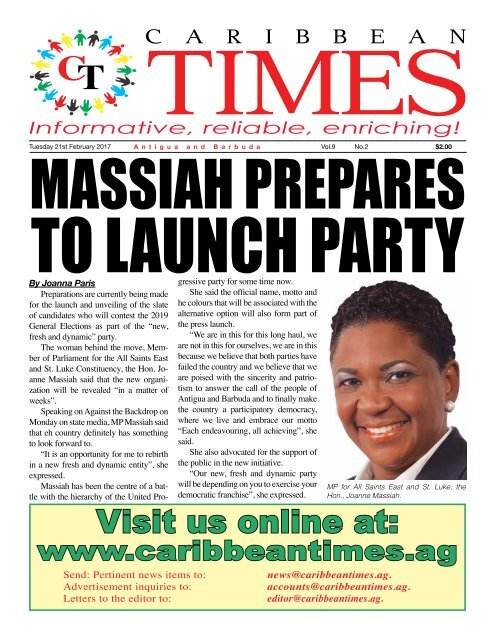 Caribbean Times 2nd Issue - Tuesday 21st February 2017