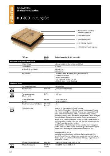 Meisterwerke Premium Lindura HD300 naturgeölt