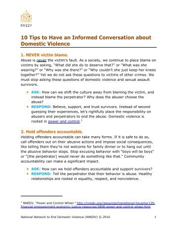 10 Tips to Have an Informed Conversation about Domestic Violence