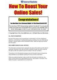 Boost Your Online Sales Mini E-Book