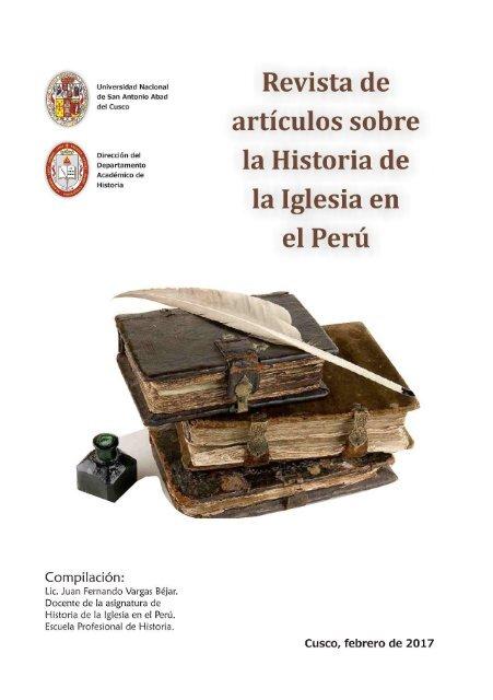 Revista Historia De La Iglesia Unsaac