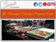 The Necessary for Catering a Corporate Event