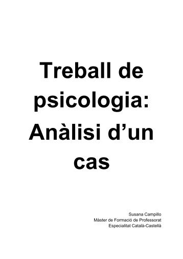 Anàlisi d'un cas 2. Susana Campillo
