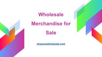General Merchandise Wholesale