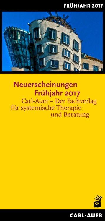 Carl-Auer Verlag Neuerscheinungen Frühjahr 2017