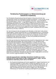 Paritätisches Positionspapier zur Weiterentwicklung der Assistierten Ausbildung