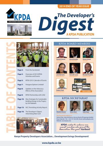 The Developers Digest, 2014 End of Year Issue