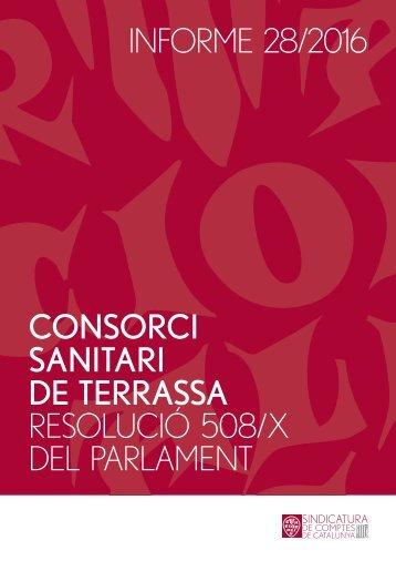 DE TERRASSA RESOLUCIÓ 508/X DEL PARLAMENT