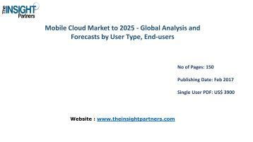 Mobile Cloud Market Strategies, Future Trends and Forecast to 2025 |The Insight Partners