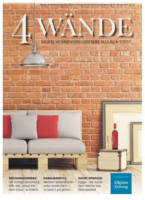 4Wände: Bauen, Wohnen und Leben im Allgäu - Ausgabe Kaufbeuren