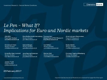 Le Pen – What If? Implications for Euro and Nordic markets