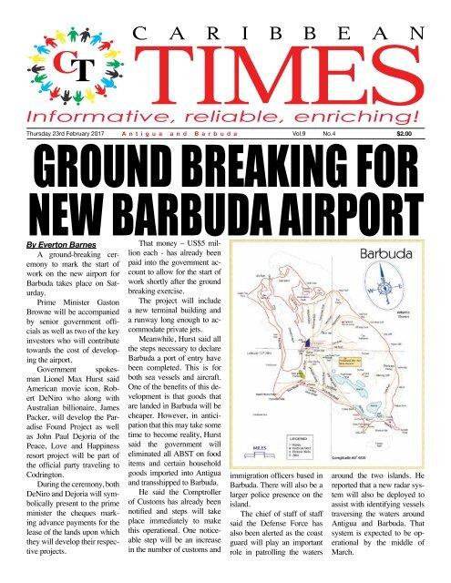 Caribbean Times 4th Issue - Thursday 23rd February 2017