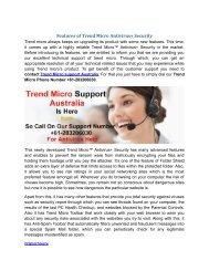 Features of Trend Micro Antivirus+ Security