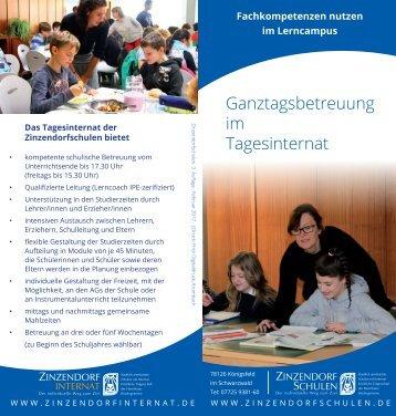 Ganztagsbetreuung im Tagesinternat der Zinzendorfschulen