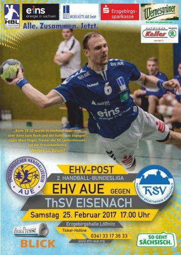 EHV Post: EHV Aue gegen ThSV Eisenach