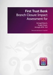First Trust Bank Branch Closure Impact Assessment for